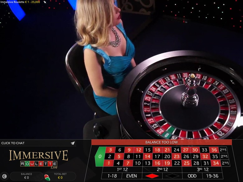 Plan de vue Roulette Immersive