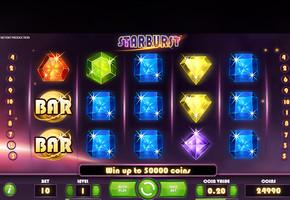 Machine à sous Starburst gratuit dans NetEnt casino