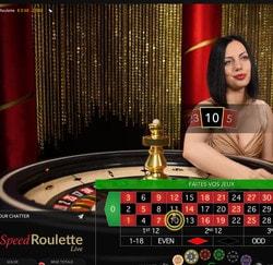 Speed Roulette d'Evolution Gaming: jeu de roulette en ligne rapide