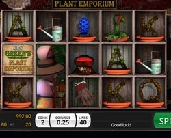 Machine à sous Mrs Green's Plant Emporium sur MrXbet