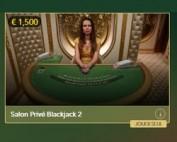 3 tables en live Blackjack Salon Privé pour joueurs VIP