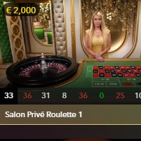 Roulette Salon Privé pour joueurs VIP