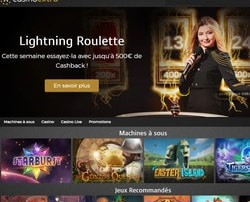 Bonus Cashback sur la Lightning Roulette sur Casino Extra