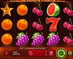 Nouvelle machine à sous Sevens & Fruits lancée par Playson