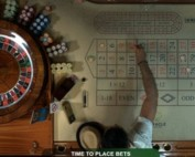 Capture d'écran d'une Live roulette avec croupiers en direct