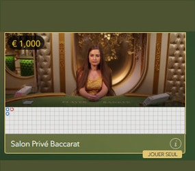 Baccarat Salon Privé d'Evolution Gaming