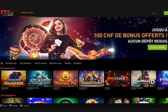Casino en ligne legal suisse 777 avec licence de la CFMJ