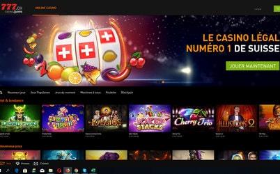 Casino777 légal en Suisse avec licence de la Commission Fédérale des maisons de jeu