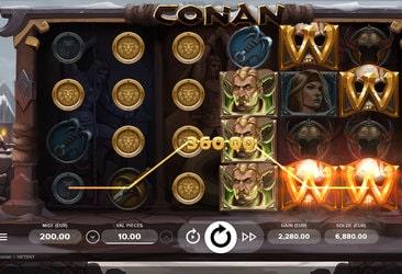 Gros gains sur la machine a sous Conan de Netent