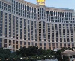 Vue du Bellagio Casino de Las Vegas