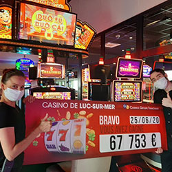 Un jackpot au Casino de Luc-sur-Mer
