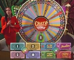 La roue de la Fortune Crazy Time sur Dublinbet est un jeu phare d'Evolution Gaming
