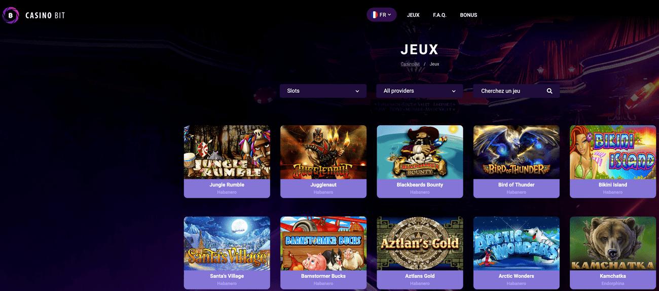 CasinoBit propose aux joueurs en ligne un des plus gros parc de machines a sous