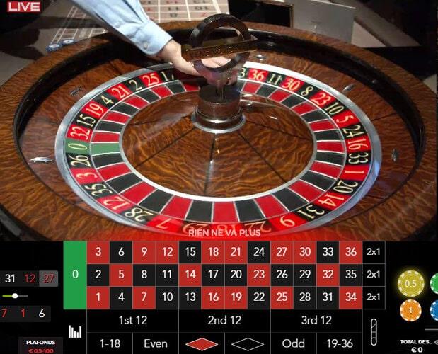 La Kensington Live Roulette retransmise en direct du Casino Forty Five Kensington de Londres