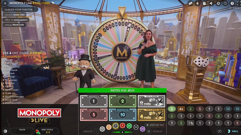 Mr Monopoly sur le studio 3D d'Evolution en compagnie de l'animatrice