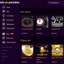 Permainan dealer langsung di Win Paradise Casino