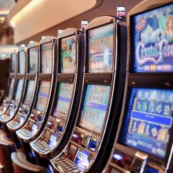 Penghancuran mesin slot usang di Casino Joa La Siesta d'Antibes