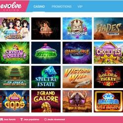 Game kelas atas dari Evolve Casino di Avis Casino