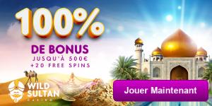 Avis Casino recommande Wild Sultan