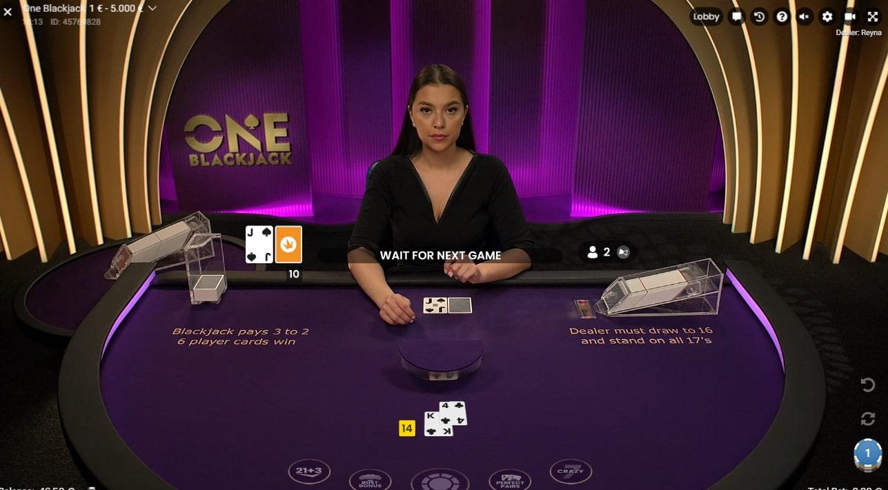 ONE Blackjack, la table de black jack en live avec joueurs illimités