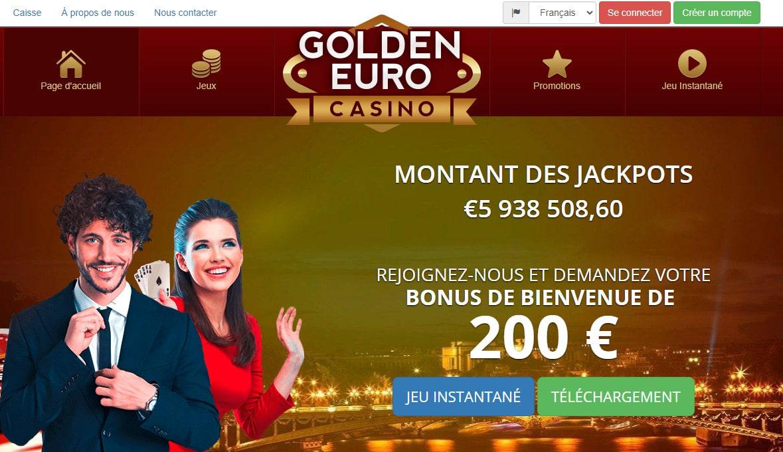 Golden Euro est un casino en ligne français fiable