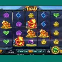Mesin slot Fire Toad tersedia di Cresus Casino