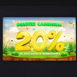 Promo Master Cashback memungkinkan Anda menikmati 20% cashback untuk semua setoran MasterCard.