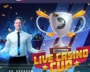 Tournoi Live Casino Cup sur les jeux Evolution sur le casino Lucky8