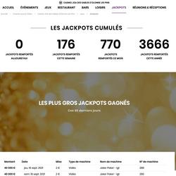 Dua jackpot Video Poker di Joa Casino Les Pins