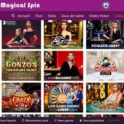 Magical Spin adalah kasino permainan dealer langsung terkemuka