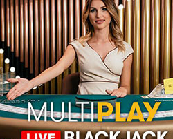 Le jeu en live MultiPlay Blackjack d'Authentic Gaming
